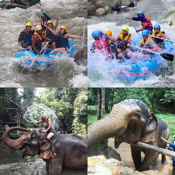 Full day Elephant Care White Water Rafting Phuket Phang nga