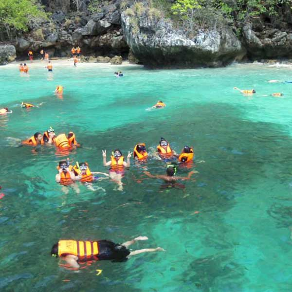 Phi Phi Island: Day Trip Phi Phi + Yaoyai + Khai Island Speedboat