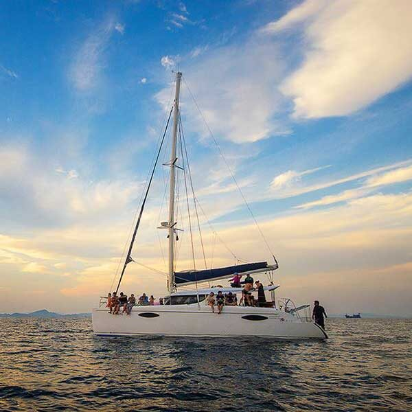 half-day-afternoon-sunset-trip-maiton-island-private-island-by-sailing-catamaran