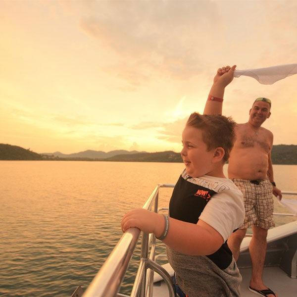 premium-catamaran-boat-sunset-phang-nga-bay