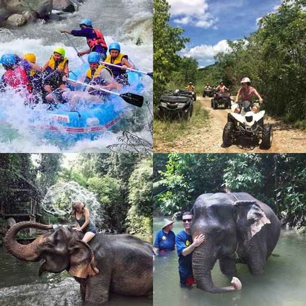 Full day Elephant Care White Water Rafting ATV Phuket Phang Nga