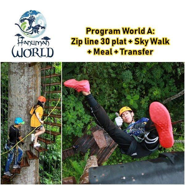 Zip line Hanuman World 30 Plat Sky Walk Meal