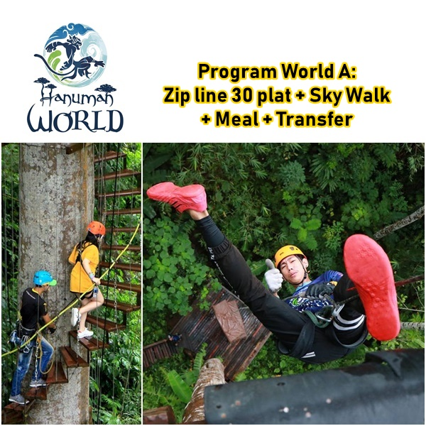 Zip line Hanuman World 30 Plat Sky Walk Meal