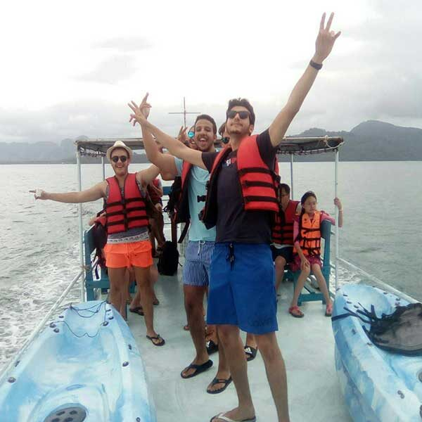 Krabi-Afternoon-Sunset-Tour-Hong-Island-by-big-boat