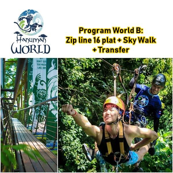 Zip line Hanuman World 16 Plat Sky Walk