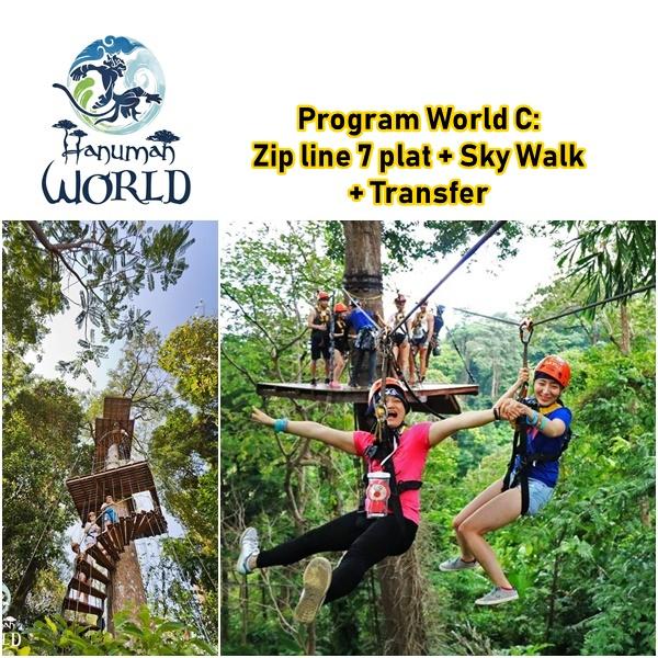 Zip line Hanuman World 7 Plat Sky Walk